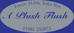 Award Winning Luxury Mobile Toilet hire from A Plush Flush of Herefordshire